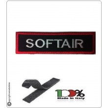 Patch Toppa Lineare Ricamata con Velcro CC  Soft Air Art.NSD-R2