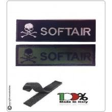 Patch Toppa Lineare Ricamata con Velcro Teschio + Soft Air Art.NSD-R1