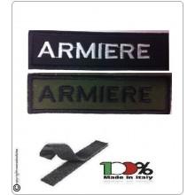 Patch Toppa Lineare Ricamata con Velcro Armiere Art.NSD-R7