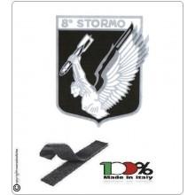 Patch Toppa Ricamata 8° Stormo Aeronautica Militare Caccia Bombardieri Aviazione Italiana Art.EU102