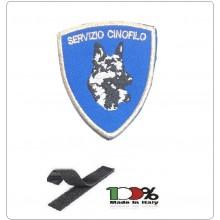 Patch Toppa Ricamata con Velcro Servizio Cinofili per Polizia Carabinieri Protezione Civile Soccorso  Art. CIN-SER