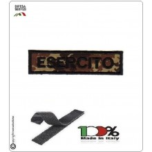 Patch Toppa Ricamata con Velcro Esercito da Uniforme VEGETATO  Art.EI-T2