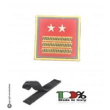 Gradi Velcro per Polo e Tuta Ordine Pubblico Guardia di Finanza Primo Luogotenente Carica Speciale GDF 6x6 Art. GDF-OPX