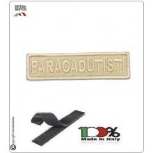 Patch Toppa Ricamata con Velcro Paracadutisti  da Uniforme Sabbia Art.P-T3