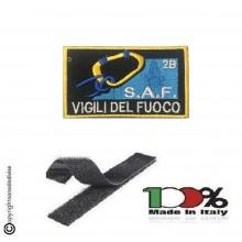 Patch Toppa Ricamata con Velcro Corso VVFF Vigili del Fuoco S.A.F. 2B Speleo Alpino Fluviale Art. SAF-2B
