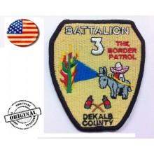 Patch ricamata VVFF Vigili del Fuoco Americani Battalion 3 Art.VVFF-04