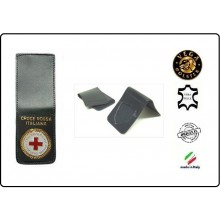 Patella pelle + Fregio per portafogli 1WE Croce Rossa Italiana Vega Holster Italia Art.1WH08
