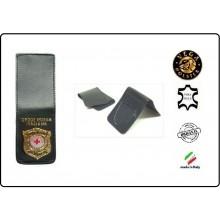 Patella pelle + Fregio per portafogli 1WE Croce Rossa Italiana New Vega Holster  Art.1WH117