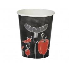 Bicchieri di Carta Pappbecher Papper Cups Fire Up The Grill  250 ml Barbecue BBQ Art. PC80681
