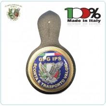 Battipetto Placca in Metallo GPG IPS  con Pendif  SCORTA E TRASPORTO VALORI Art.GPG-IPS-3