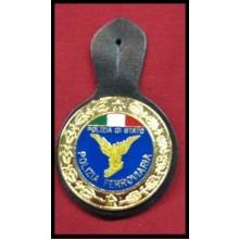 Pendif Specializzazione da Petto Polizia Di Stato PS Ferroviaria Art.FAV-FER