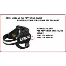 Patch Ricamo a Macchina Con Velcro per Pettorina Cani JULIUS X9  Art.JULIUS-1