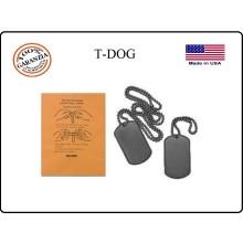 Piastrine Americane US Originali  Colore Nere  Dog Tags Kit Art.27463