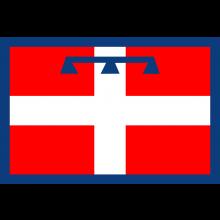Bandiera Piemonte Poliestere Nautico da Esterno cm 100x150 Art.NSD.P.100x150