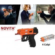 Pistola Difesa Personale JPX4 Compact Laser Nuovo Modello 4 Colpi - Ricaricabile comprensivo di 4 colpi Art.8200-LASER