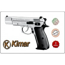 Pistola a Salve Saccia Cani 75 Auto Inox Cromata 8mm Kimar Italia cod.430.002 Art.RP044115