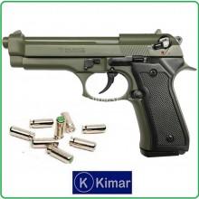 Pistola a Salve Scaccia Cani Beretta 92 Auto 8mm Verde OD Kimar Italia Art.420.068