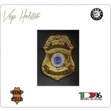 Placca con Supporto Cuoio Da Inserire Al Portafoglio Security Service 1WG Vega Holster Italia Art. 1WG-28