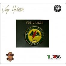 Placca con Supporto Cuoio Da Inserire Al Portafoglio V.A.B. Vigilanza Antincendi Boschivi  1WG Vega holster Italia Art. 1WG-96