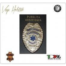Placca con Supporto Cuoio Da Inserire Al Portafoglio Soccorso Sanitario 1WG Vega Holster Italia Art. 1WG-38