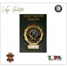 Placca con Supporto Cuoio Da Inserire Al Portafoglio Investigatore Privato 1WG Vega Holste Italia Art. 1WG-76