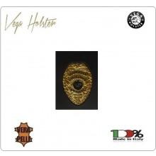 Placca con Supporto Cuoio Da Inserire Al Portafoglio S.V.P. Vigilanza Privata 1WG Vega Holster Art. 1WG-48