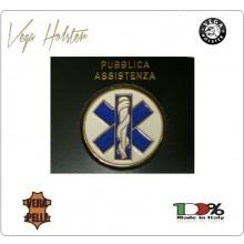 Placca con Supporto Cuoio Da Inserire Al Portafoglio Soccorso Sanitario 1WG Vega Holster Italia Art. 1WG-51