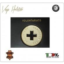 Placca con Supporto Cuoio Da Inserire Al Portafoglio Volontario Croce Blu 1WG Vega Holster Italia Art. 1WG-57