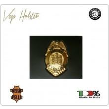 Placca con Supporto Cuoio Da Inserire Al Portafoglio Private Detective 1WG Vega Holster Italia Art. 1WG-81