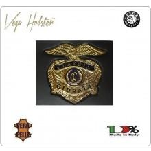 Placca con Supporto Cuoio Da Inserire Al Portafoglio Guardia Giurata 1WG Vega Holster Italia Art. 1WG-73
