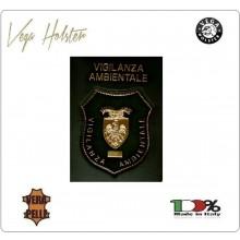 Placca con Supporto Cuoio Da Inserire Al Portafoglio Vigilanza Anbientale 1WG Vega Holster Italia Art.1WG-29