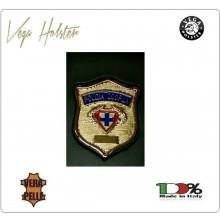 Placca con Supporto Cuoio Da Inserire Al Portafoglio Polizia Zoofila 1WG Vega Holster Italia Art. 1WG-37
