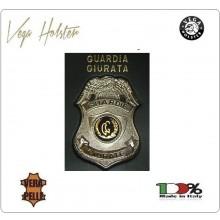 Placca con Supporto Cuoio Da Inserire Al Portafoglio Guardie Giurate 1WG Vega holster Italia  Art. 1WG-27