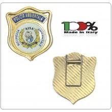 Placca con Clip A.I.S.A. Associazione Italiana Sicurezza Ambientale  Art.AISA-P12