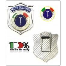 Placca con Clip POLIZIA GIUDIZIARIA GUARDIE ZOOFILE Prodotto Italiano Art.PS-ZOO