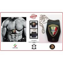 Portaplacca Doppio Uso Collo - Cintura Prevenzione Crimine GPG IPS  Vega Holster Italia Art.1WBGPGIPS