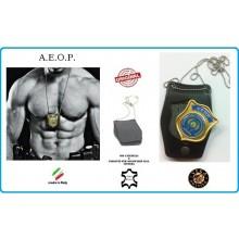 Porta Placca Doppio Uso Collo - Cintura A.E.O.P. Placca Estraibile Vega Holster Italia Art.1WB-AEOP