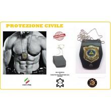Porta Placca Doppio Uso Collo - Cintura Protezione Civile  Vega Holster Italia Art.1WB115NEW