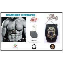 Portaplacca Doppio Uso Collo - Cintura Guardie Giurate Vega Holster Italia  Art.1WB27