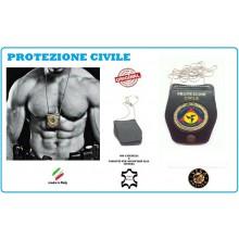 Portaplacca Doppio Uso Collo - Cintura Protezione Civile  Vega Holster Italia  Art.1WB35NEW