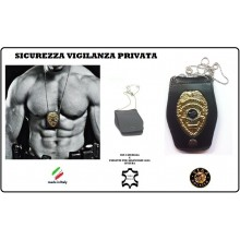 Portaplacca Doppio Uso Collo - Cintura Sicurezza Vigilanza Privata  Vega Holster Art.1WB48