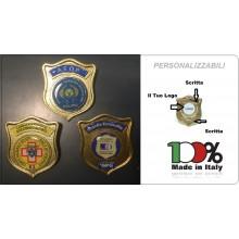 Distintivi Placca Metallo Personalizzazione Gommata Personalizzati Con Il Vostro Logo ONULS VIGILANZE SOCCORSI ECC..... Art.TUSCAN-P