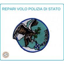 Toppa Patch Ricamata con Velcro Polizia  Reparto Volo CASV C.A.S.V. Art.PS-VOLO-6