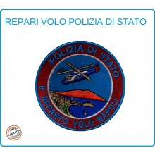 Toppa Patch Ricamata con Velcro Polizia 6° Reparto Volo Napoli Art.PS-VOLO-10