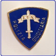 Distintivo da Petto Polizia Giudiziaria Blu Art.NSD-PG