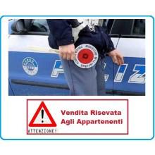 Adesivo Per Paletta Rosso Polizia Di Stato stradale VENDITA RISERVATA Art.R0055-PS