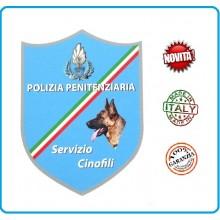 Adesivo o Vetrofania Polizia Penitenziaria Servizio Cinofili cm 7.00x10.00 Art.PP-T-A9