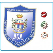 Adesivo o Vetrofania Polizia Penitenziaria Dipartimento Giustizia Minorile DGM cm 7.00x10.00 Art.PP-T-A8