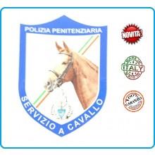 Patch Toppa con Velcro Plastificata Polizia Penitenziaria Servizio a Cavallo Art.T-PPSAC