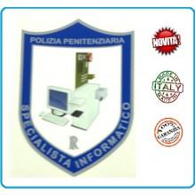 Adesivo o Vetrofania Polizia Penitenziaria Specialista Informatico cm 7.00x10.00 Art.PP-T-A1